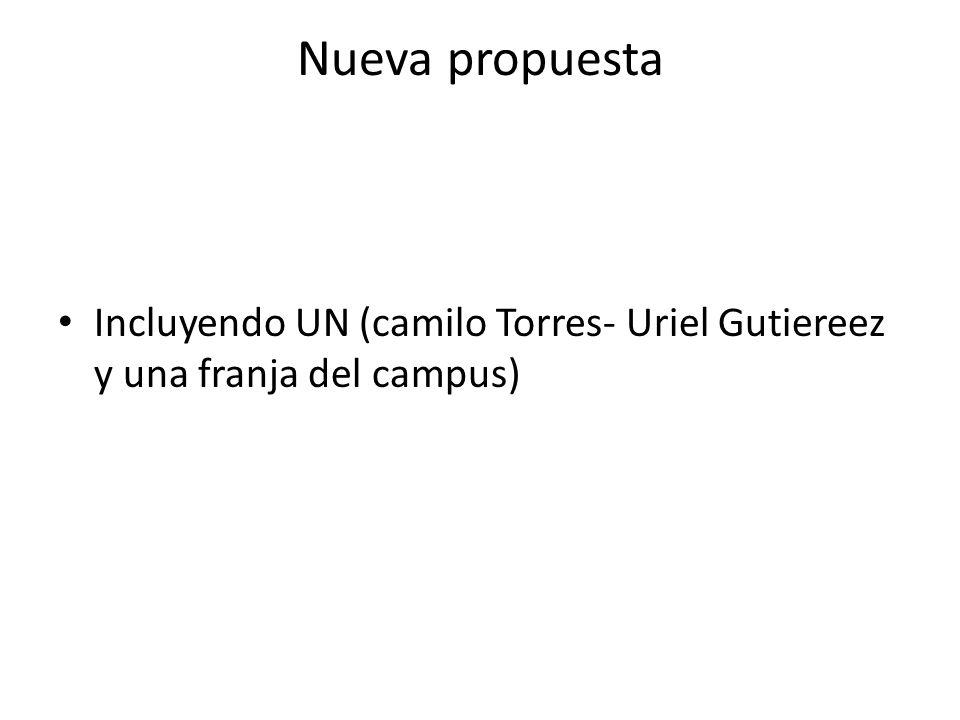 Nueva propuesta Incluyendo UN (camilo Torres- Uriel Gutiereez y una franja del campus)