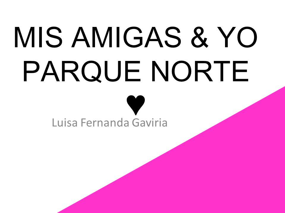 MIS AMIGAS & YO PARQUE NORTE Luisa Fernanda Gaviria