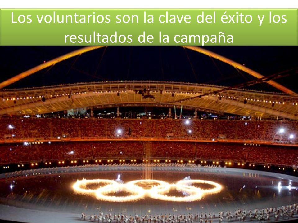 Los voluntarios son la clave del éxito y los resultados de la campaña