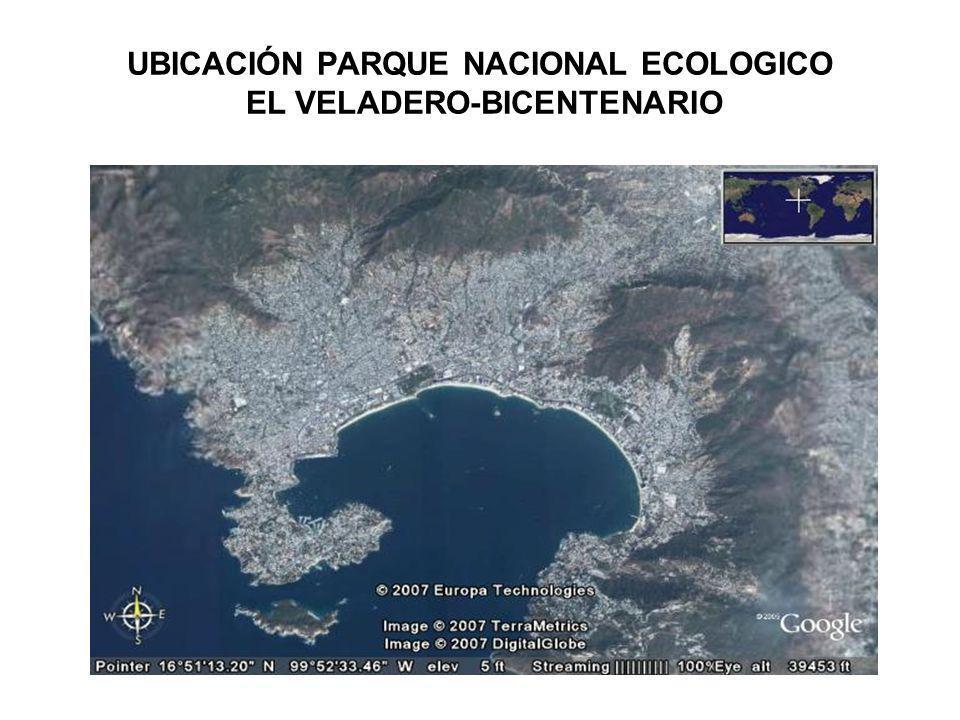 UBICACIÓN PARQUE NACIONAL ECOLOGICO EL VELADERO-BICENTENARIO