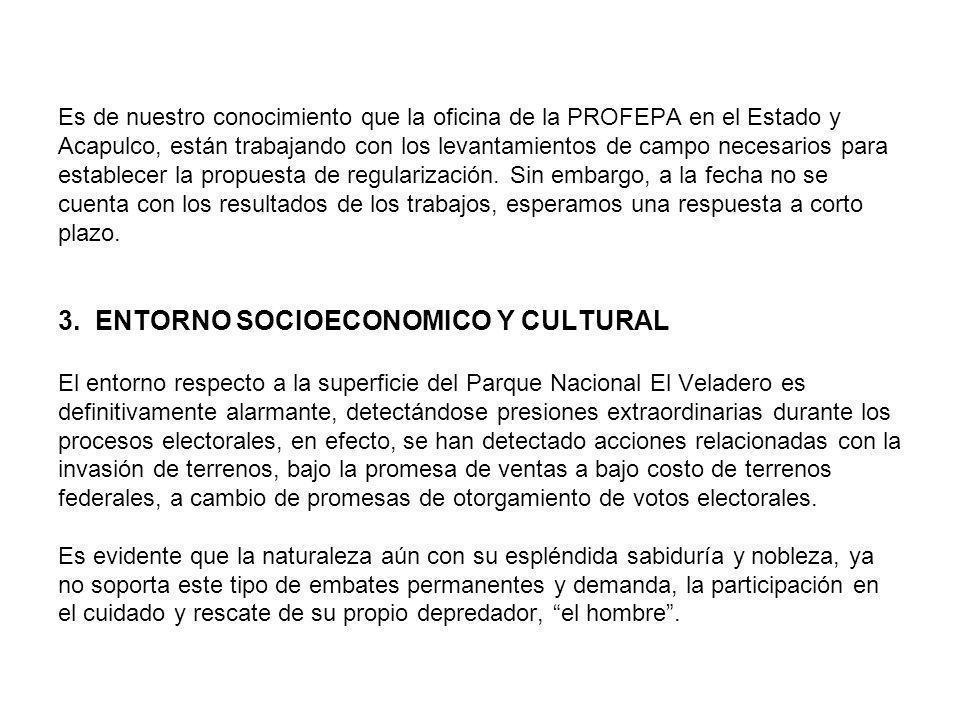 Es de nuestro conocimiento que la oficina de la PROFEPA en el Estado y Acapulco, están trabajando con los levantamientos de campo necesarios para esta