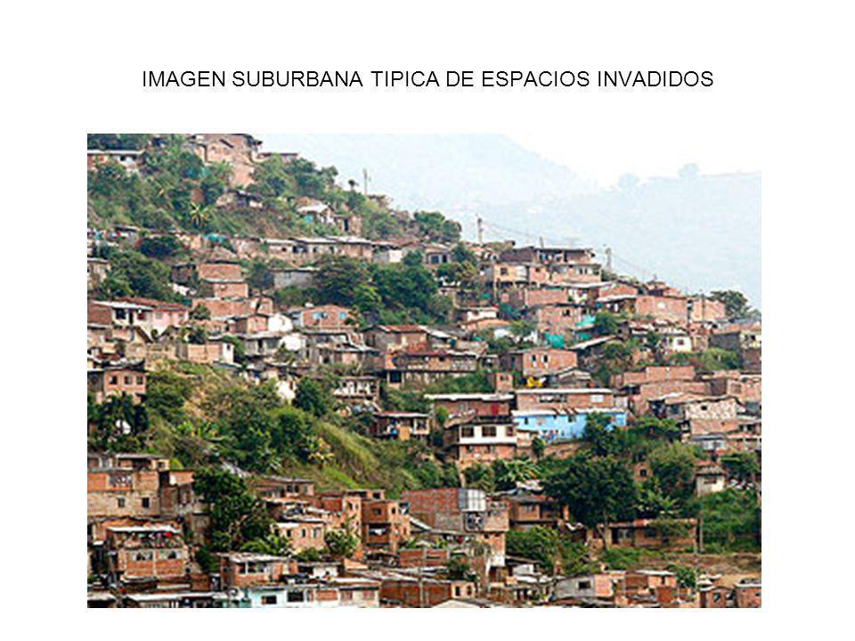 IMAGEN SUBURBANA TIPICA DE ESPACIOS INVADIDOS