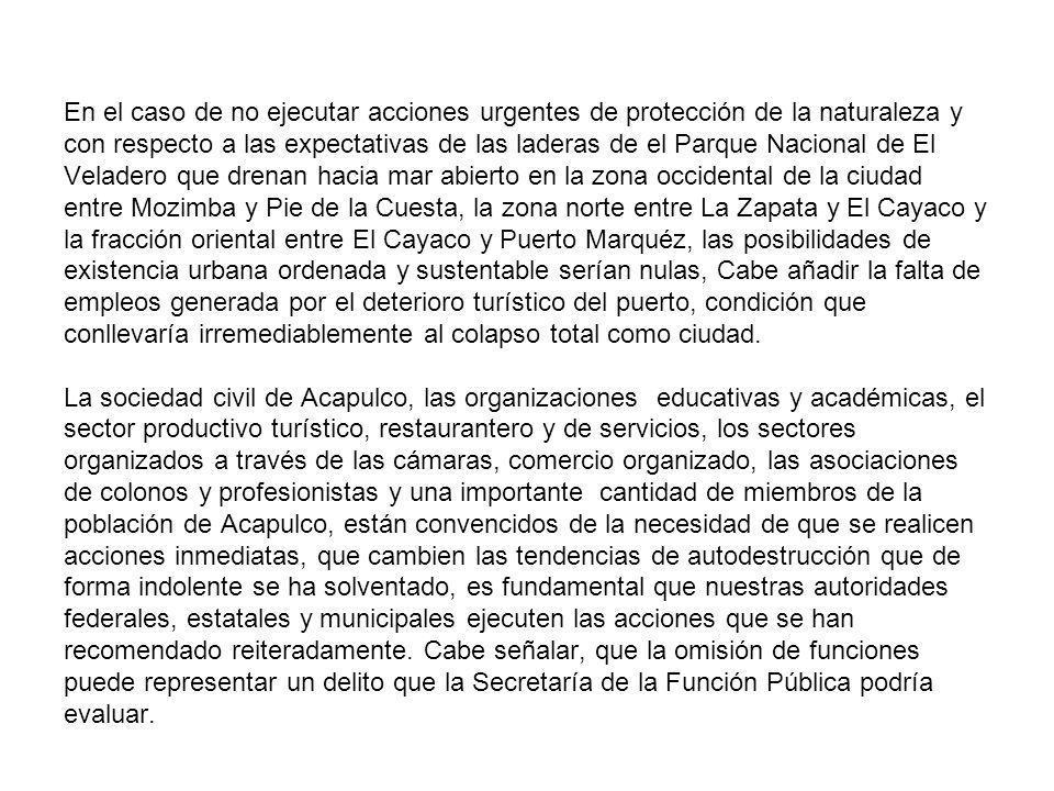 En el caso de no ejecutar acciones urgentes de protección de la naturaleza y con respecto a las expectativas de las laderas de el Parque Nacional de E