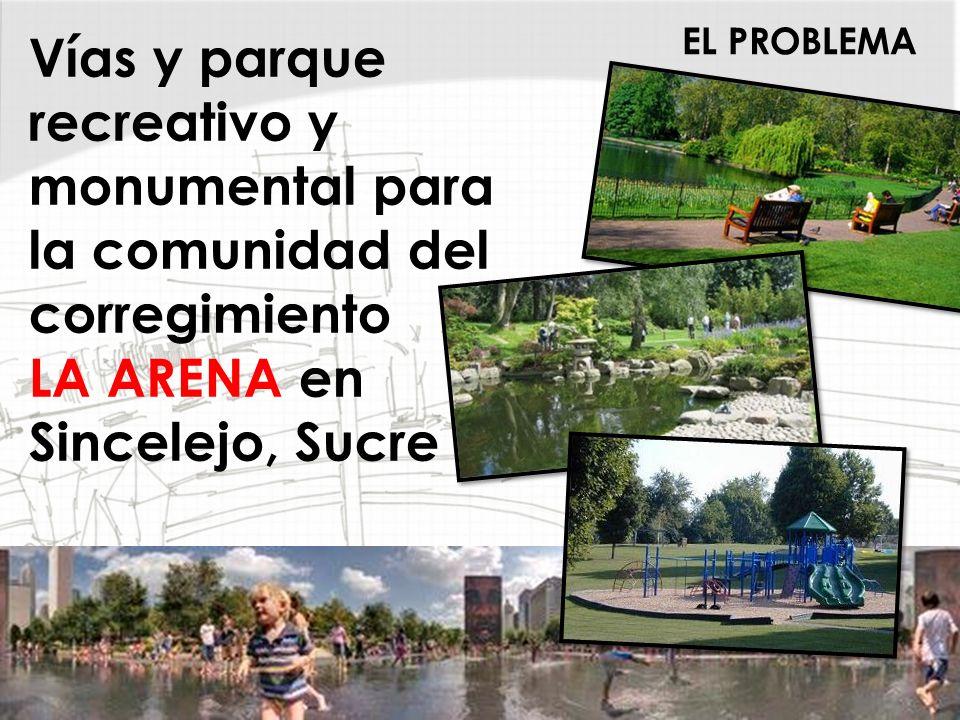 EL PROBLEMA Vías y parque recreativo y monumental para la comunidad del corregimiento LA ARENA en Sincelejo, Sucre