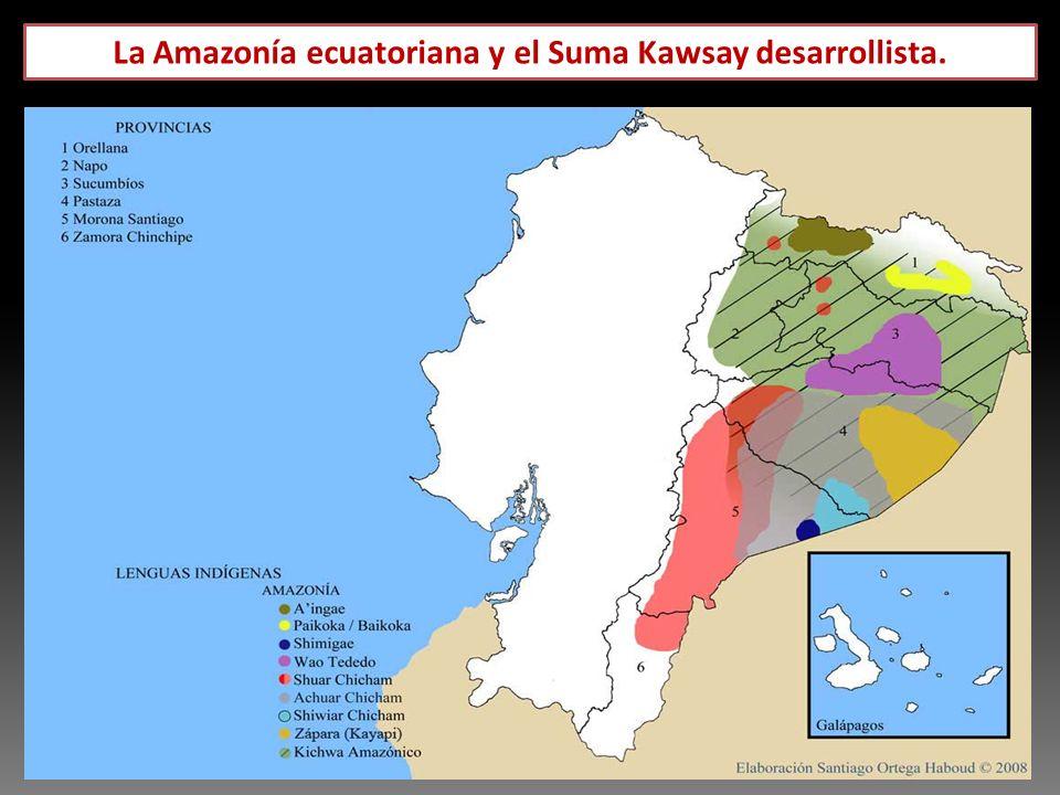 Parque Nacional Yasuni, zona intangible y bloques petroleros.