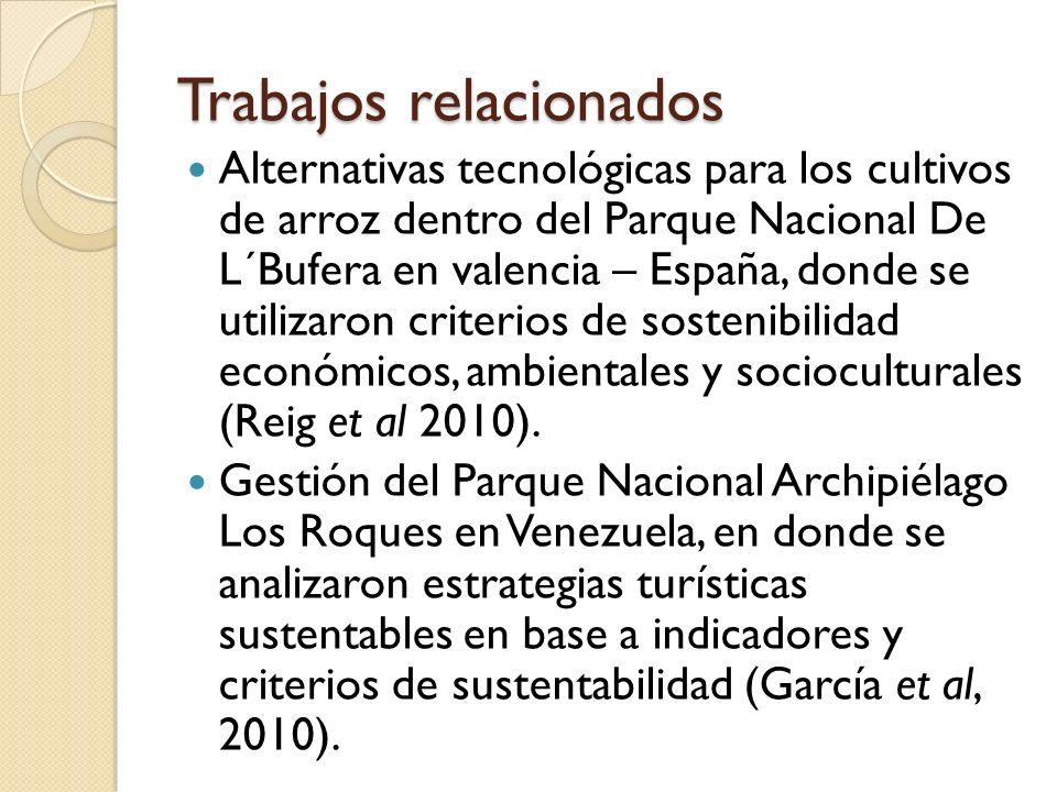 Trabajos relacionados Alternativas tecnológicas para los cultivos de arroz dentro del Parque Nacional De L´Bufera en valencia – España, donde se utili