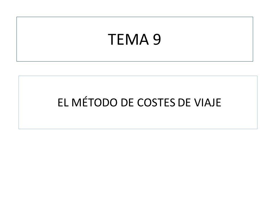 TEMA 9 EL MÉTODO DE COSTES DE VIAJE