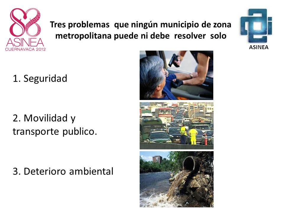1.Seguridad 2. Movilidad y transporte publico. 3.