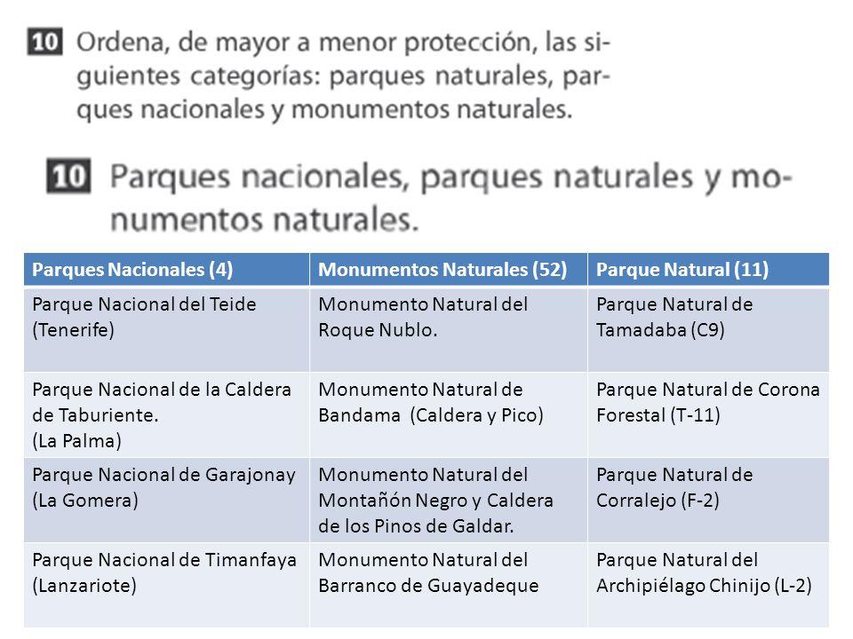 Parques Nacionales (4)Monumentos Naturales (52)Parque Natural (11) Parque Nacional del Teide (Tenerife) Monumento Natural del Roque Nublo. Parque Natu