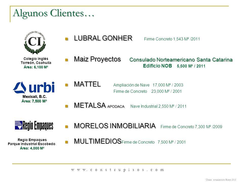 LUBRAL GONHER LUBRAL GONHER Firme Concreto 1,543 M² /2011 Maiz Proyectos Consulado Norteamericano Santa Catarina Maiz Proyectos Consulado Norteamerica