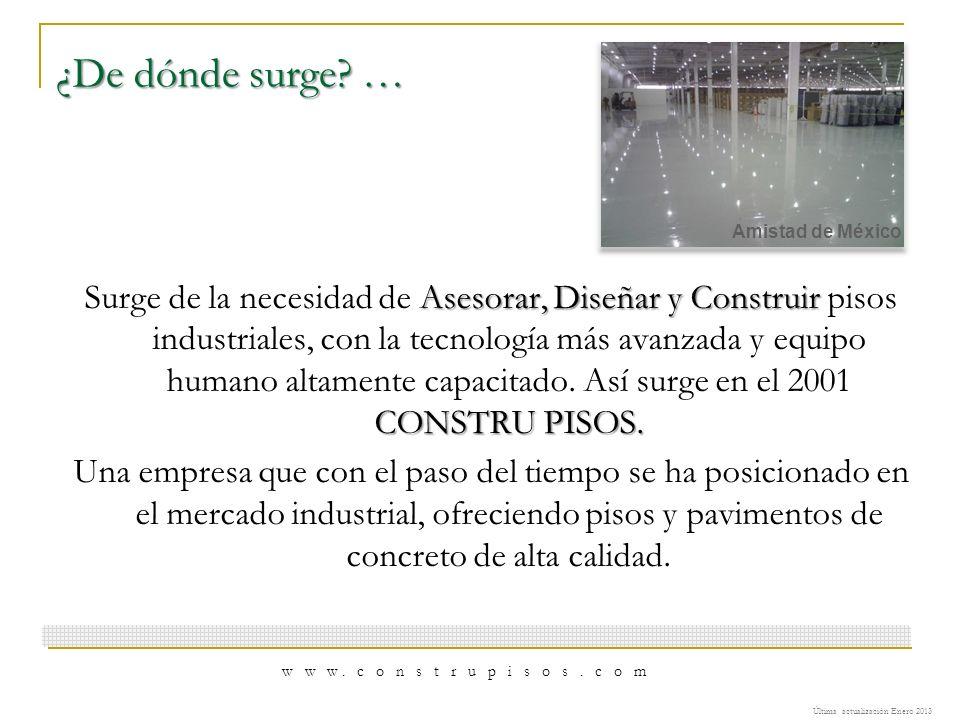 Misión… Satisfacción Satisfacción de las necesidades del mercado industrial.