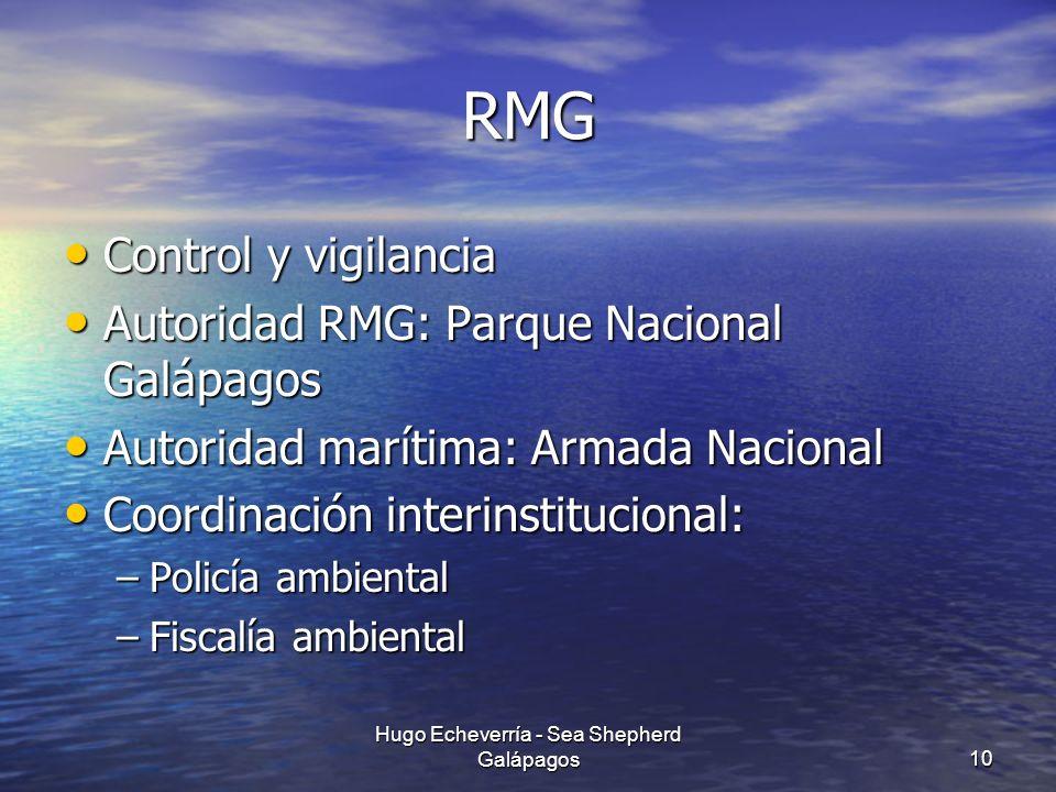 RMG Control y vigilancia Control y vigilancia Autoridad RMG: Parque Nacional Galápagos Autoridad RMG: Parque Nacional Galápagos Autoridad marítima: Ar