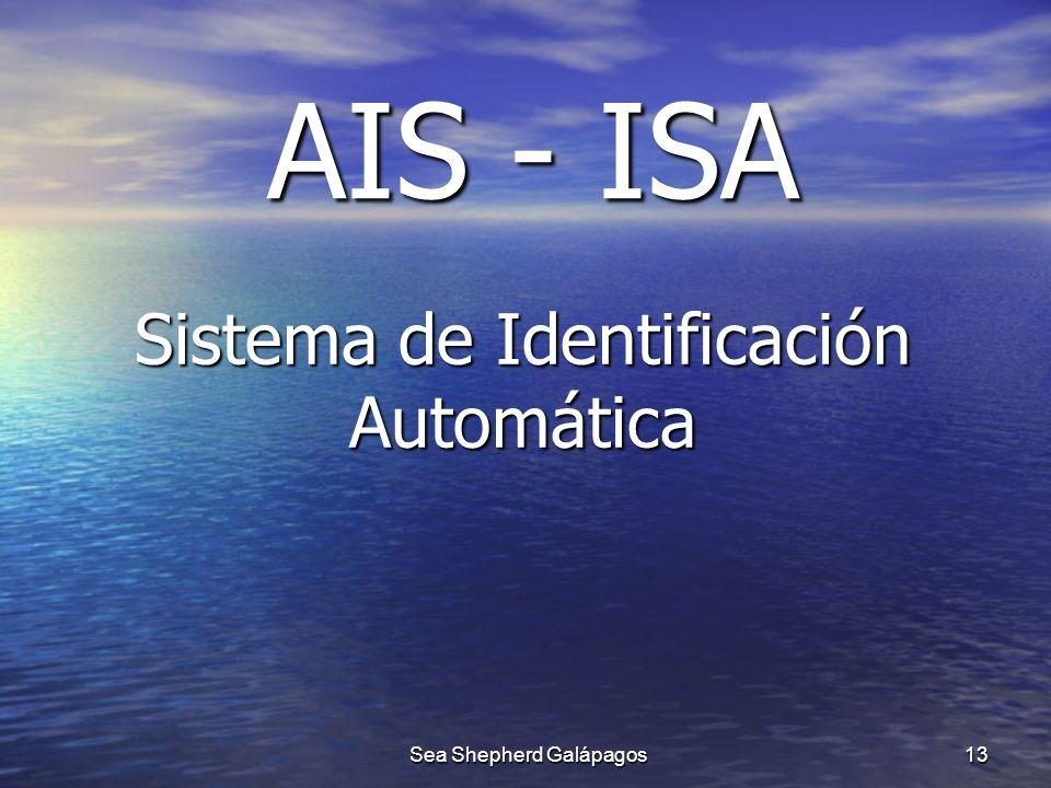 AIS - ISA Sistema de Identificación Automática 13 Sea Shepherd Galápagos