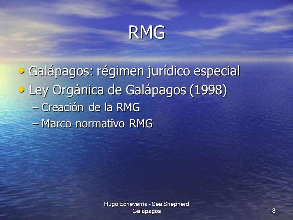 RMG Galápagos: régimen jurídico especial Galápagos: régimen jurídico especial Ley Orgánica de Galápagos (1998) Ley Orgánica de Galápagos (1998) –Creac