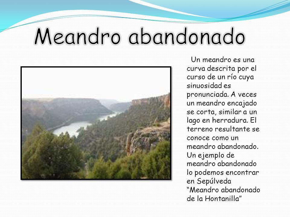 Un meandro es una curva descrita por el curso de un río cuya sinuosidad es pronunciada.