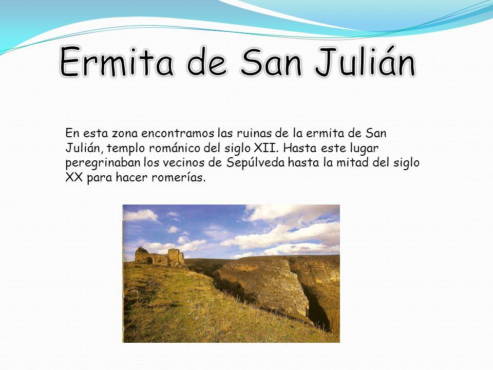 En esta zona encontramos las ruinas de la ermita de San Julián, templo románico del siglo XII.