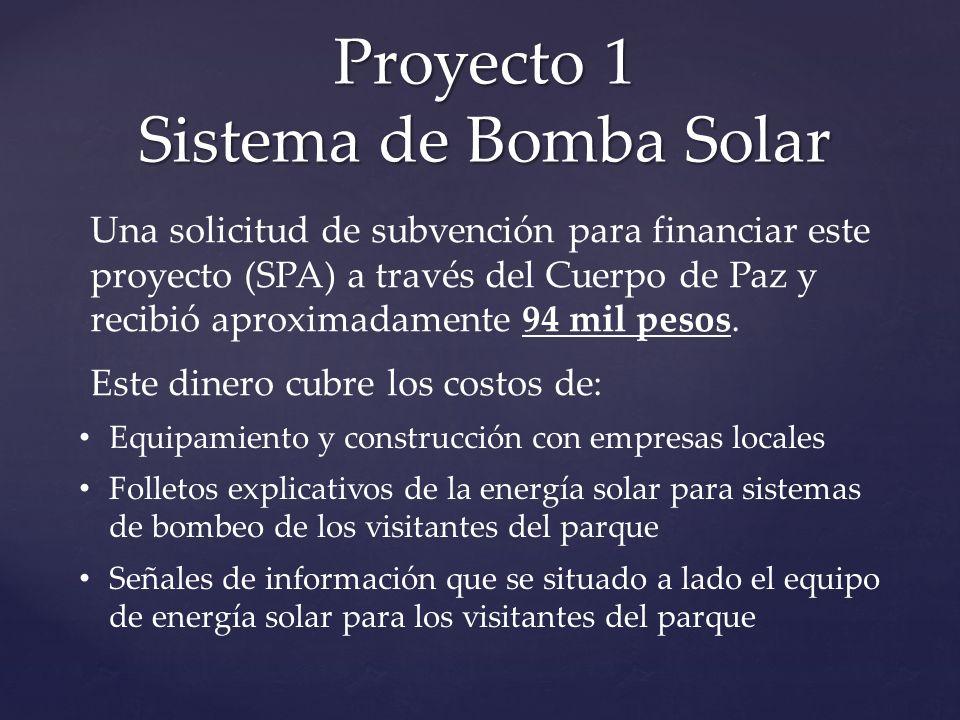 Equipamiento y construcción con empresas locales Folletos explicativos de la energía solar para sistemas de bombeo de los visitantes del parque Señale