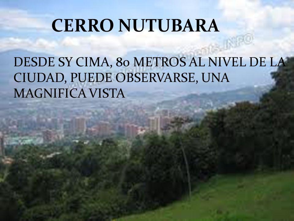 CERRO NUTUBARA DESDE SY CIMA, 80 METROS AL NIVEL DE LA CIUDAD, PUEDE OBSERVARSE, UNA MAGNIFICA VISTA