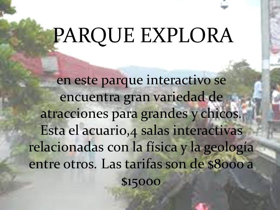en este parque interactivo se encuentra gran variedad de atracciones para grandes y chicos. Esta el acuario,4 salas interactivas relacionadas con la f