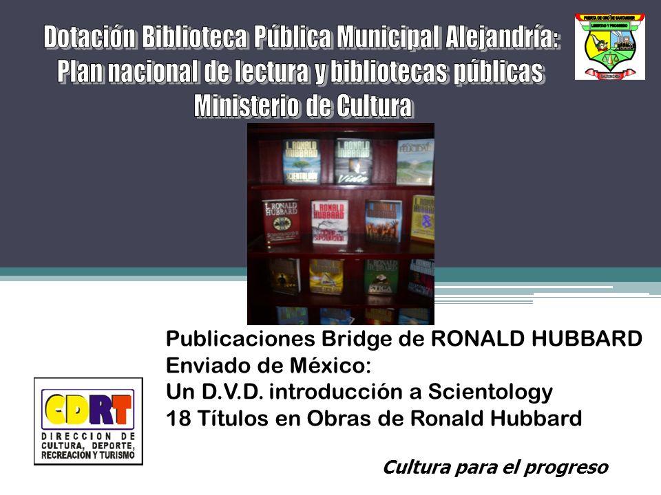 Publicaciones Bridge de RONALD HUBBARD Enviado de México: Un D.V.D.