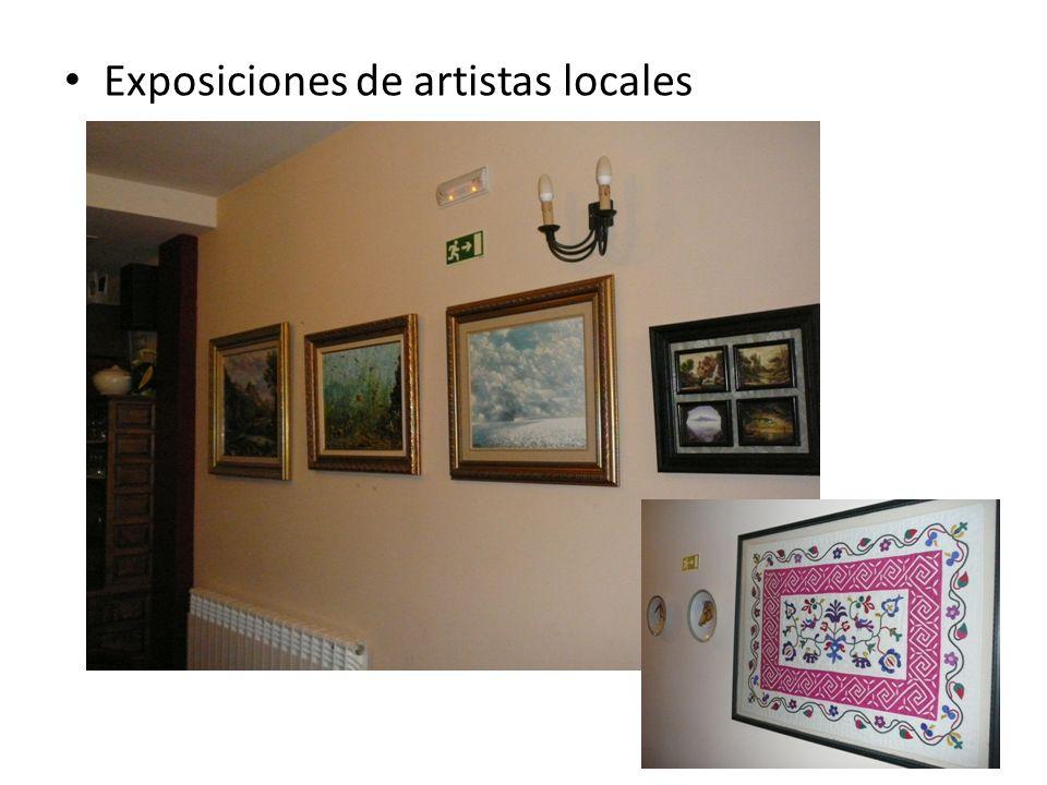 Exposiciones de artistas locales