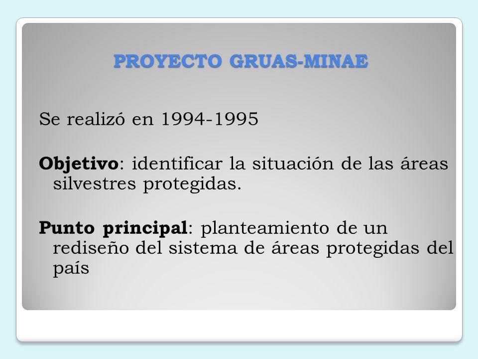 Las áreas de conservación En nuestro país, el propósito de las áreas de conservación es el manejo de ecosistemas.