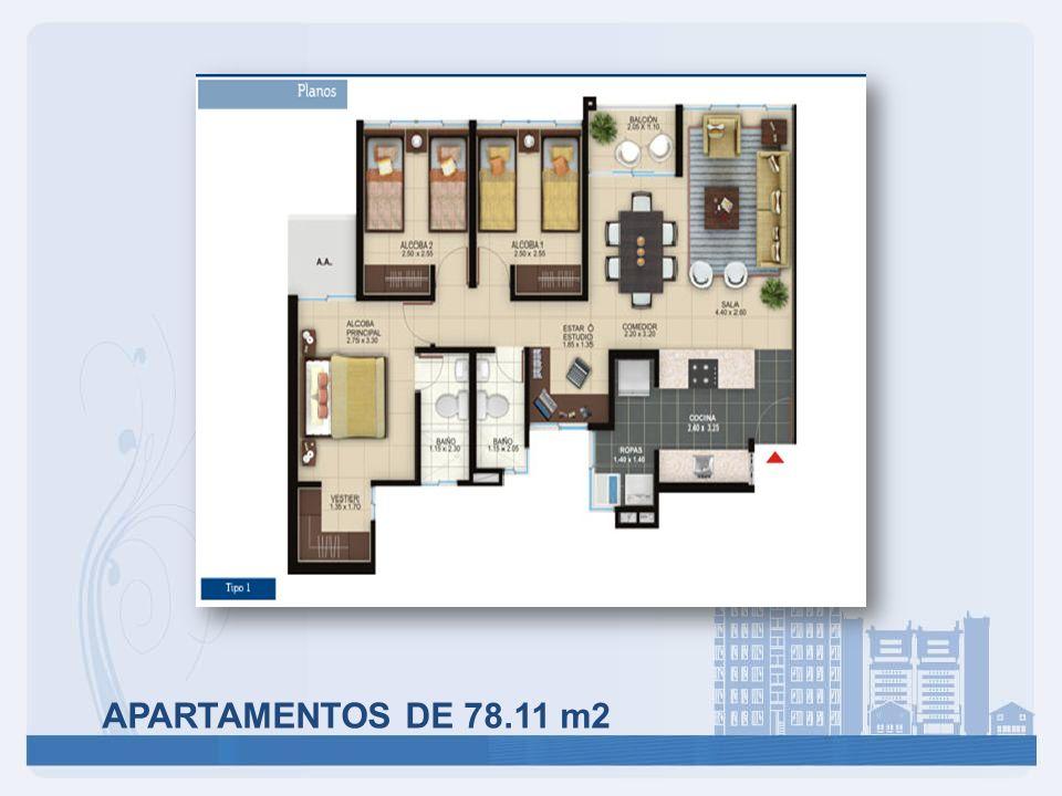APARTAMENTOS DE 78.11 m2