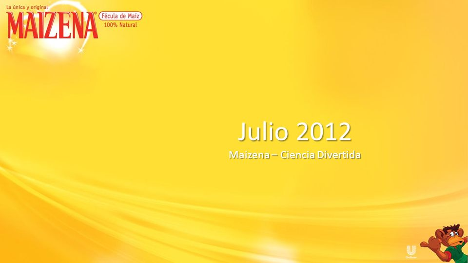 Julio 2012 Maizena – Ciencia Divertida