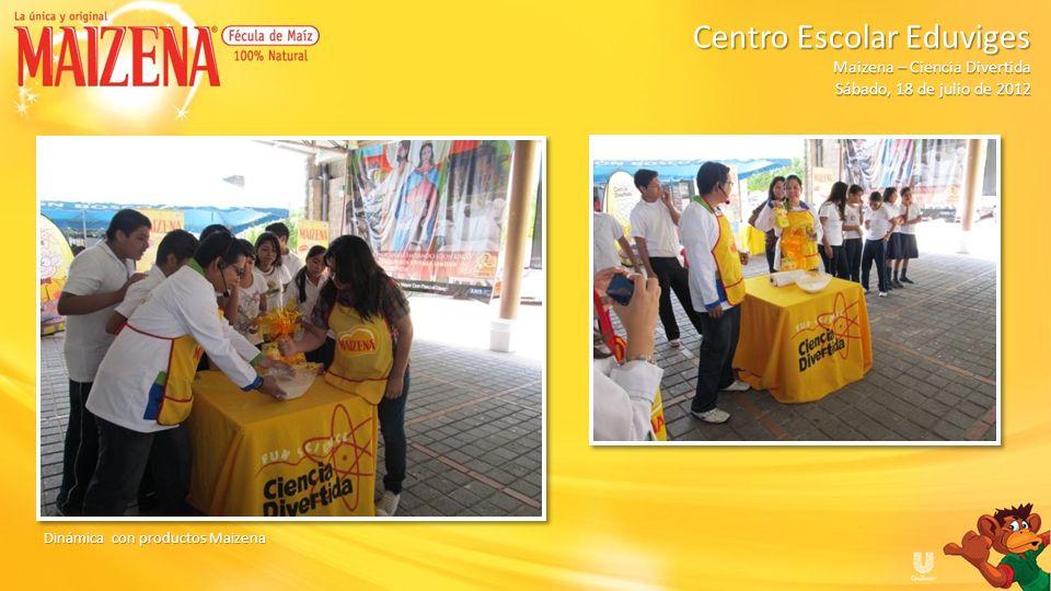 Dinámica con productos Maizena Centro Escolar Eduviges Maizena – Ciencia Divertida Sábado, 18 de julio de 2012