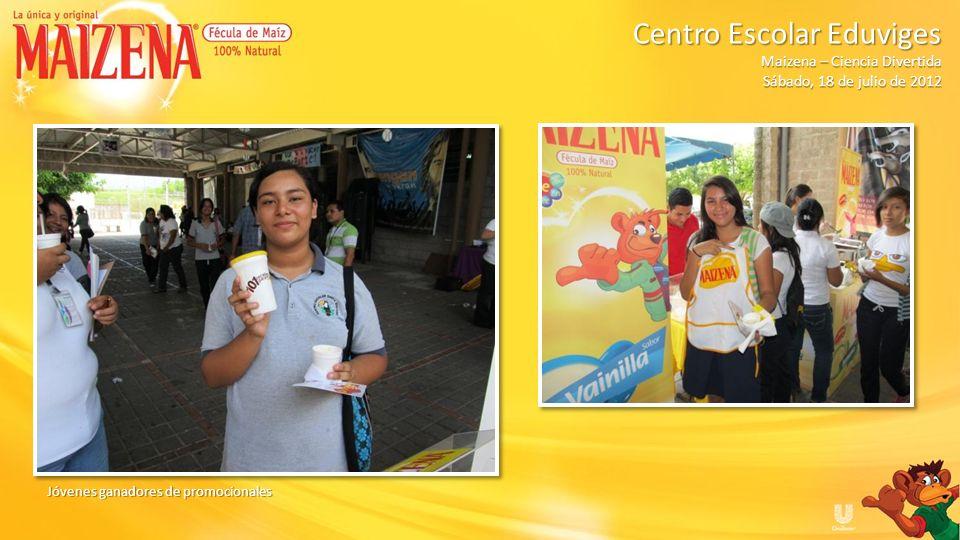 Jóvenes ganadores de promocionales Centro Escolar Eduviges Maizena – Ciencia Divertida Sábado, 18 de julio de 2012