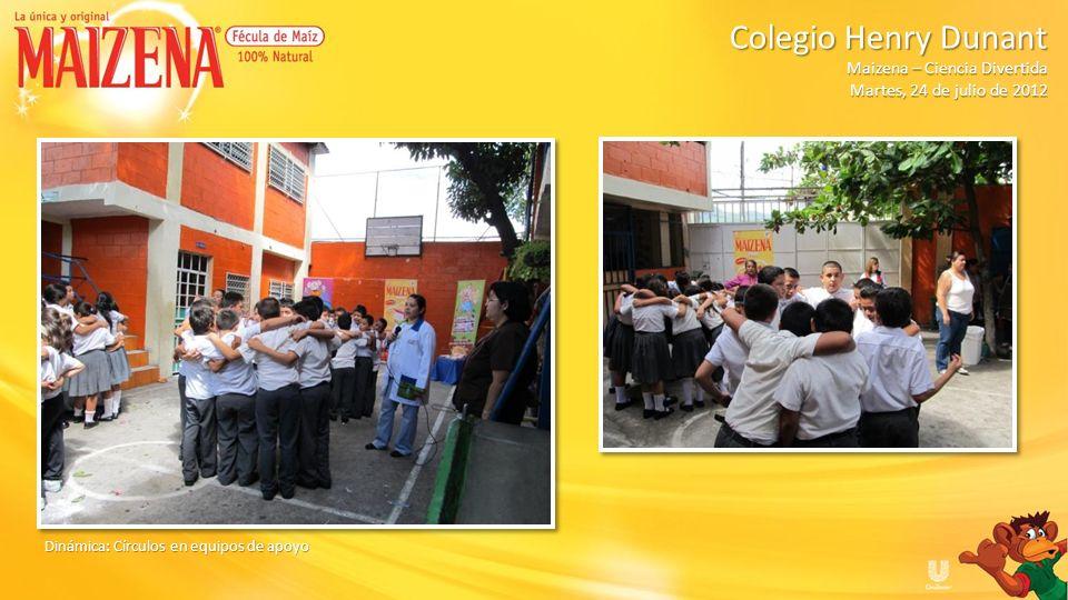 Dinámica: Baile de la molienda de café Colegio Henry Dunant Colegio Henry Dunant Maizena – Ciencia Divertida Martes, 24 de julio de 2012