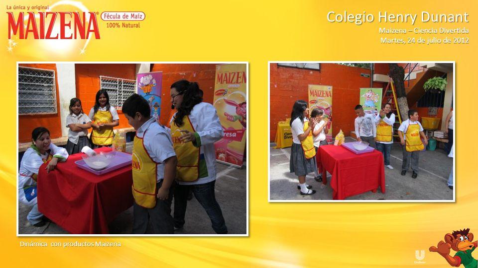 Dinámica con productos Maizena Colegio Henry Dunant Colegio Henry Dunant Maizena – Ciencia Divertida Martes, 24 de julio de 2012