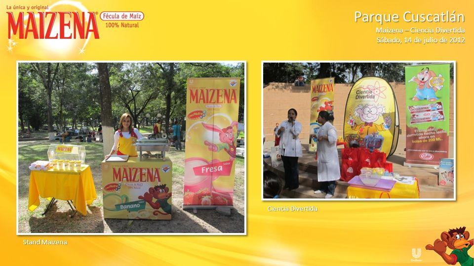 Público Parque Cuscatlán Parque Cuscatlán Maizena – Ciencia Divertida Sábado, 14 de julio de 2012
