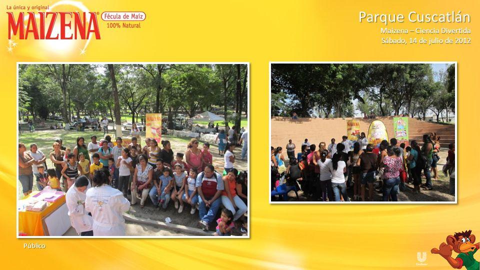 Dinámica: Vasos Ganadora dinámica de preguntas del producto Maizena Parque Cuscatlán Parque Cuscatlán Maizena – Ciencia Divertida Sábado, 14 de julio de 2012