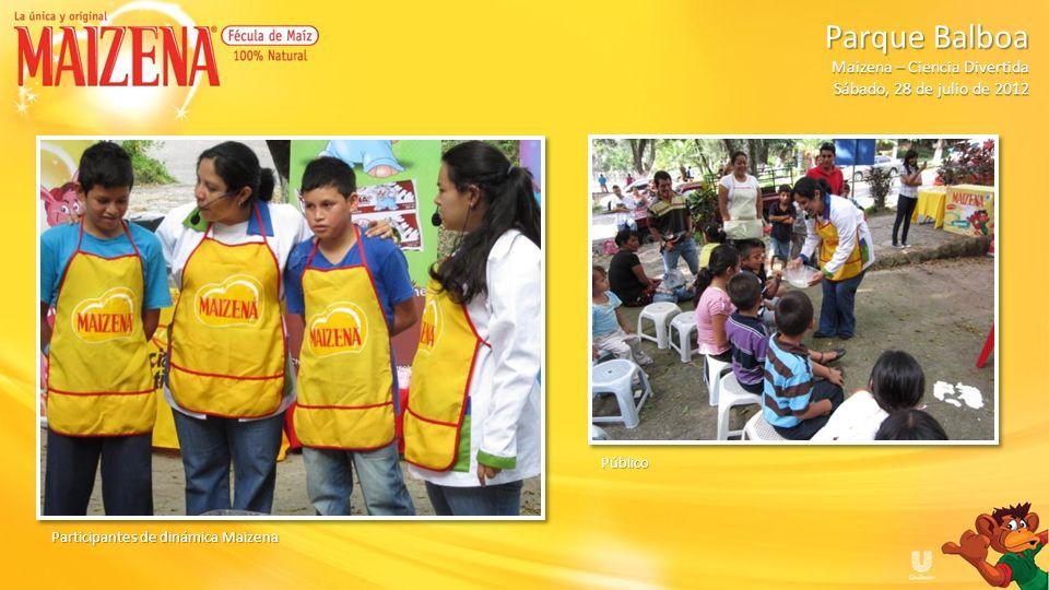 Público Participantes de dinámica Maizena Parque Balboa Parque Balboa Maizena – Ciencia Divertida Sábado, 28 de julio de 2012