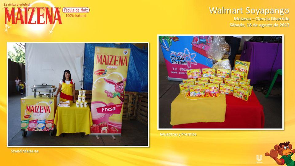 Inicio evento Dinámica Maizena Walmart Soyapango Walmart Soyapango Maizena – Ciencia Divertida Sábado, 18 de agosto de 2012