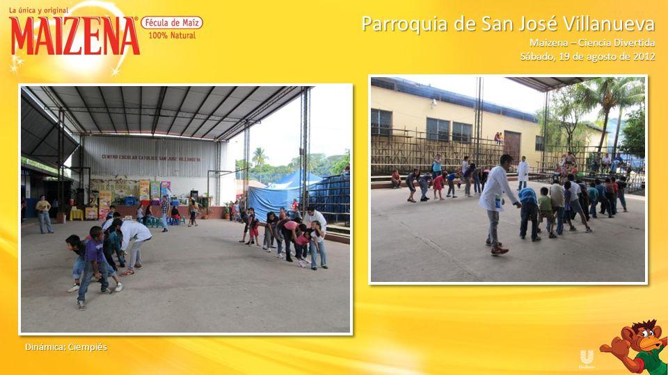 Ganadora del kit de Maizena Dinámica de Maizena Parroquia de San José Villanueva Parroquia de San José Villanueva Maizena – Ciencia Divertida Sábado, 19 de agosto de 2012