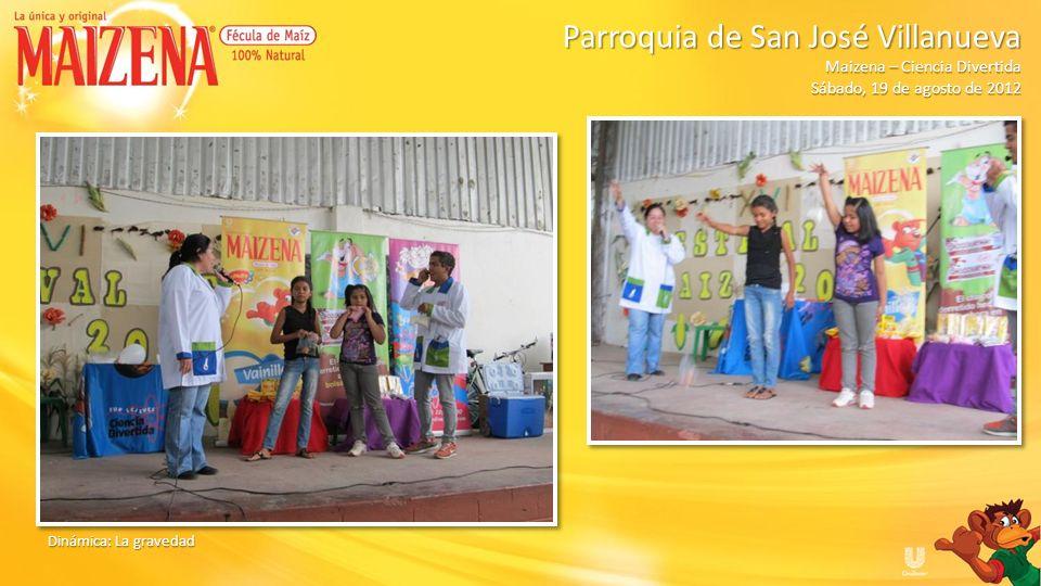 Publico haciendo fila para recibir degustacion Parroquia de San José Villanueva Parroquia de San José Villanueva Maizena – Ciencia Divertida Sábado, 19 de agosto de 2012
