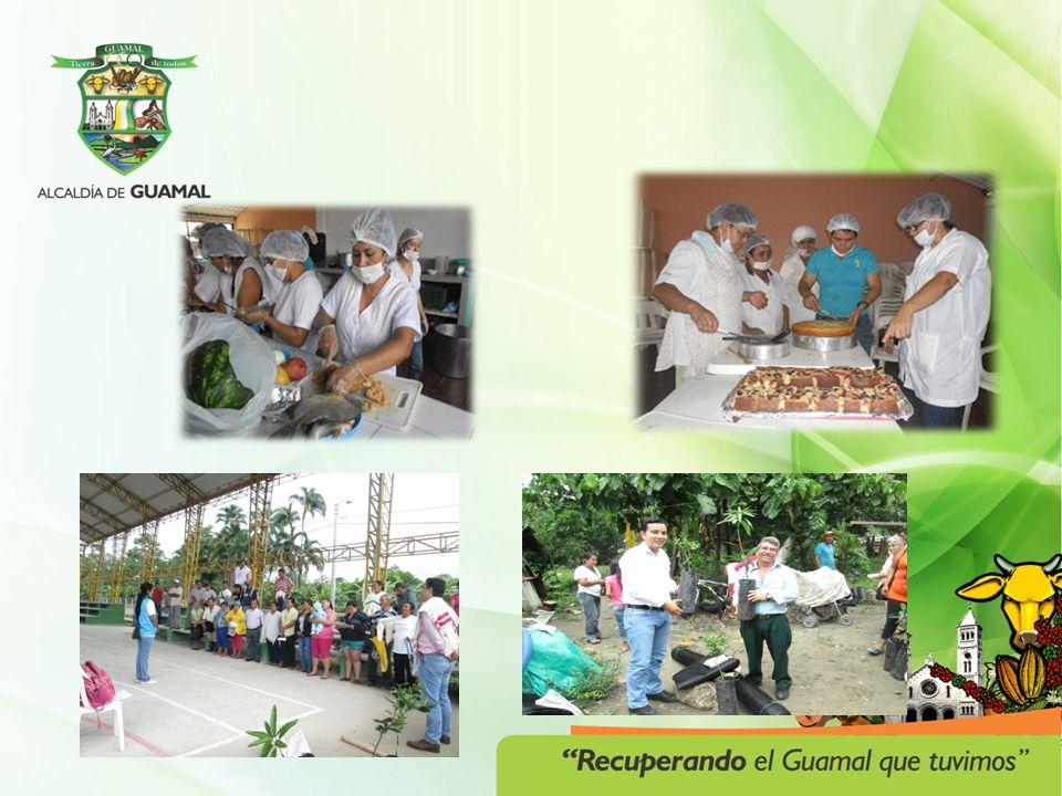 PROGRAMA: EMPRENDIMIENTO, TECNOLOGIA Y CAPACIDAD LABORAL PARA EL DESARROLLO ECONOMICO Y EMPRESARIAL PROYECTOACTIVIDADES / POBLACION GIRA TECNICA AGROEXPO 100 productores en Gira técnica Feria internacional de exposición agrícola, pecuaria e industrial, a la ciudad de Bogotá INCENTIVAR LA SIEMBRA DE CACAO Con 60 usuarios campesinos Se visitaron granjas piloto de la Federación de Cacaoteros en Granada.