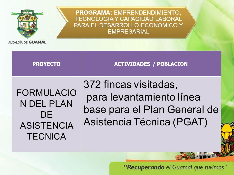 PROGRAMA: GUAMAL MUNICIPIO ARMONICO Y ORDENADO PROYECTOPOBLACION PRESTACIÓN DE SERVICIOS DE APOYO A LA GESTIÓN PARA LLEVAR A CABO JORNADAS DE EDUCACIÓN AMBIENTAL.