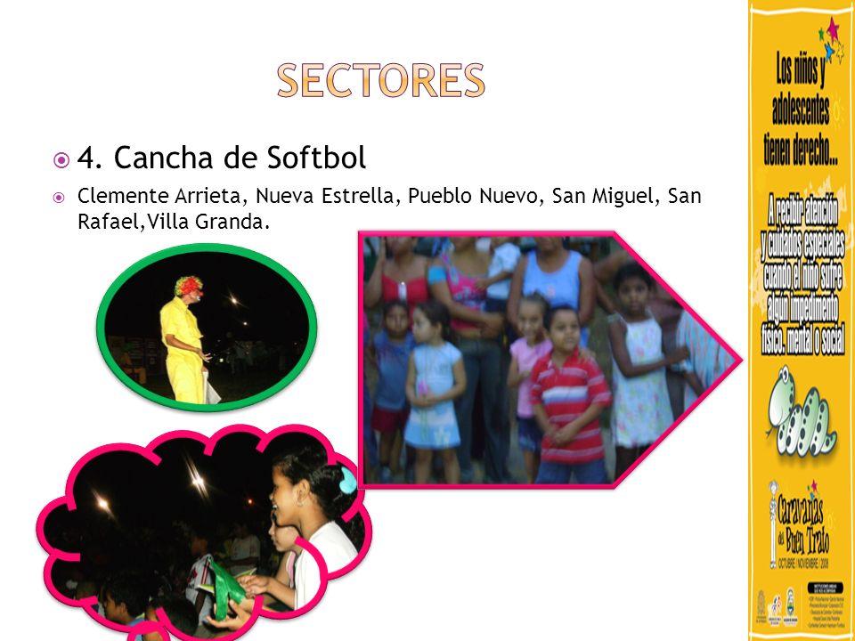 4. Cancha de Softbol Clemente Arrieta, Nueva Estrella, Pueblo Nuevo, San Miguel, San Rafael,Villa Granda.