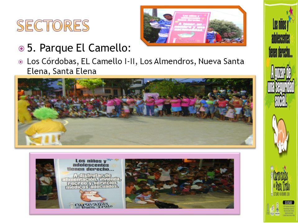 5. Parque El Camello: Los Córdobas, EL Camello I-II, Los Almendros, Nueva Santa Elena, Santa Elena