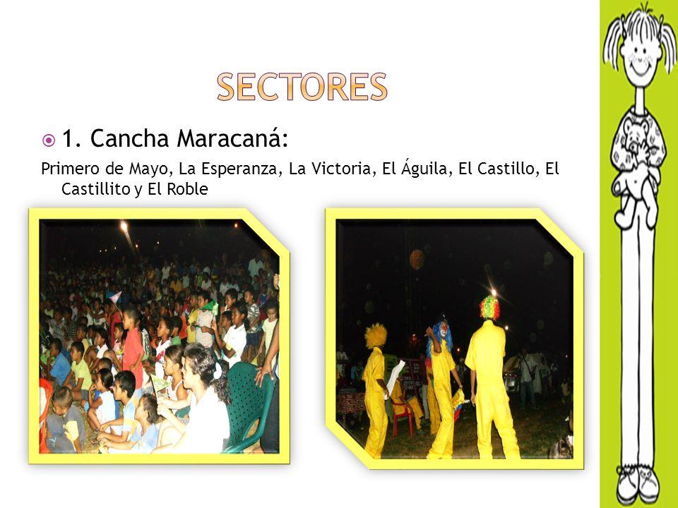 1. Cancha Maracaná: Primero de Mayo, La Esperanza, La Victoria, El Águila, El Castillo, El Castillito y El Roble