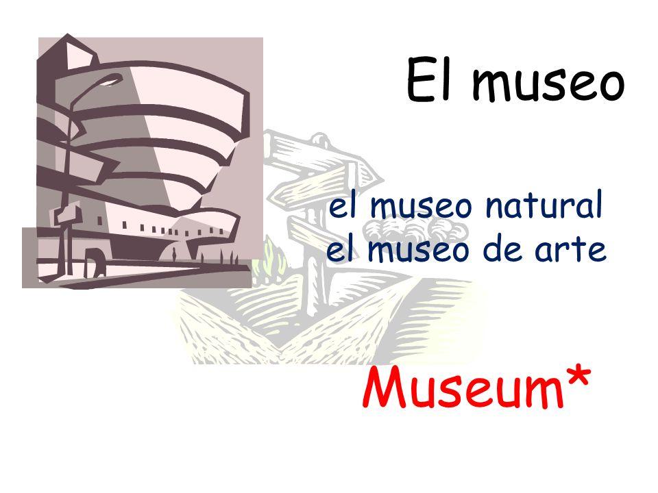 El museo Museum* el museo natural el museo de arte