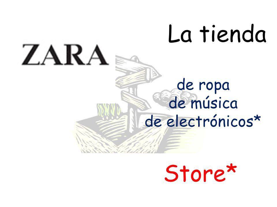 La tienda Store* de ropa de música de electrónicos*