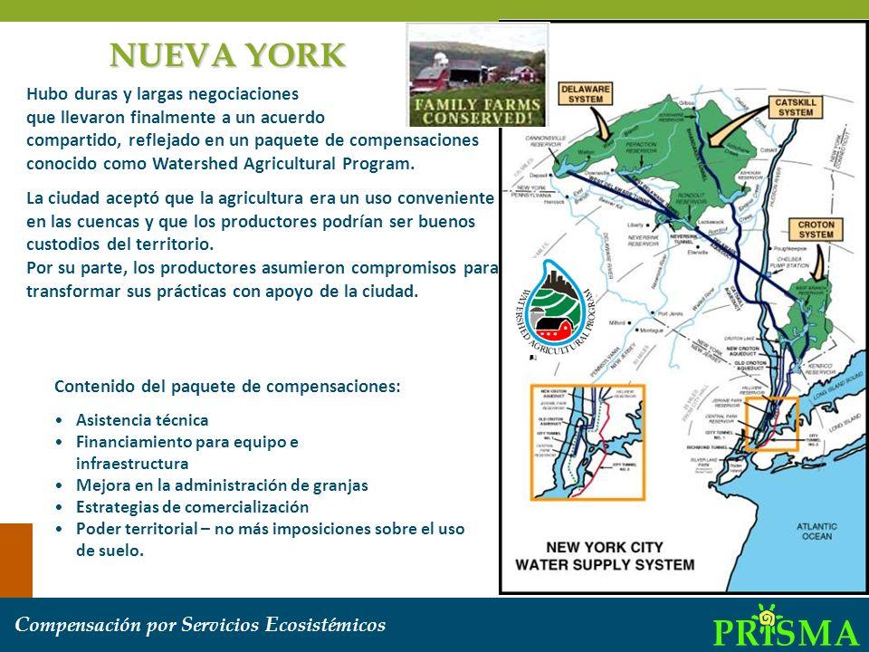 C ompensación por S ervicios E cosistémicos Sao Paolo Barra do Turvo Existe un pago a municipalidades que tienen zonas bajo conservación, el cual viene del impuesto ICMS ecológico.