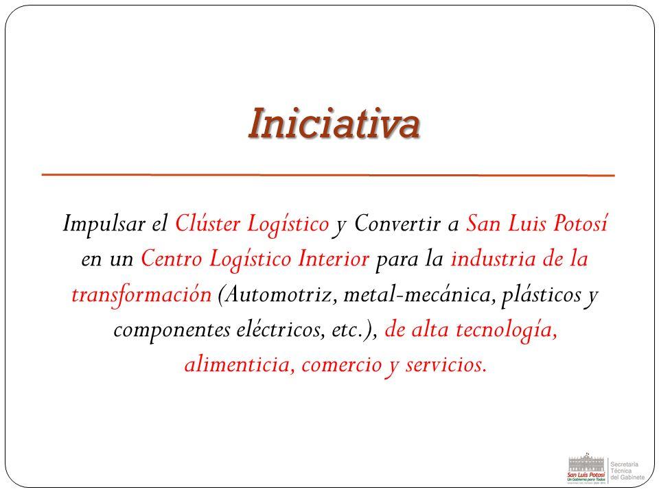 Iniciativa Impulsar el Clúster Logístico y Convertir a San Luis Potosí en un Centro Logístico Interior para la industria de la transformación (Automot