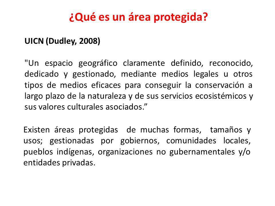 ¿Qué es un área protegida? UICN (Dudley, 2008)