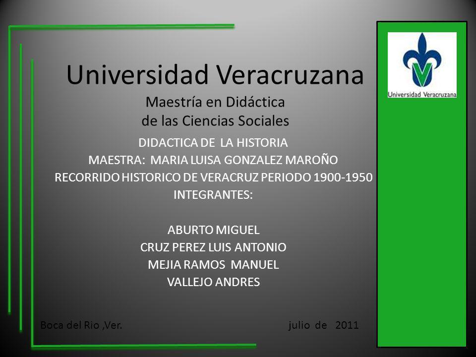 Universidad Veracruzana Maestría en Didáctica de las Ciencias Sociales DIDACTICA DE LA HISTORIA MAESTRA: MARIA LUISA GONZALEZ MAROÑO RECORRIDO HISTORI