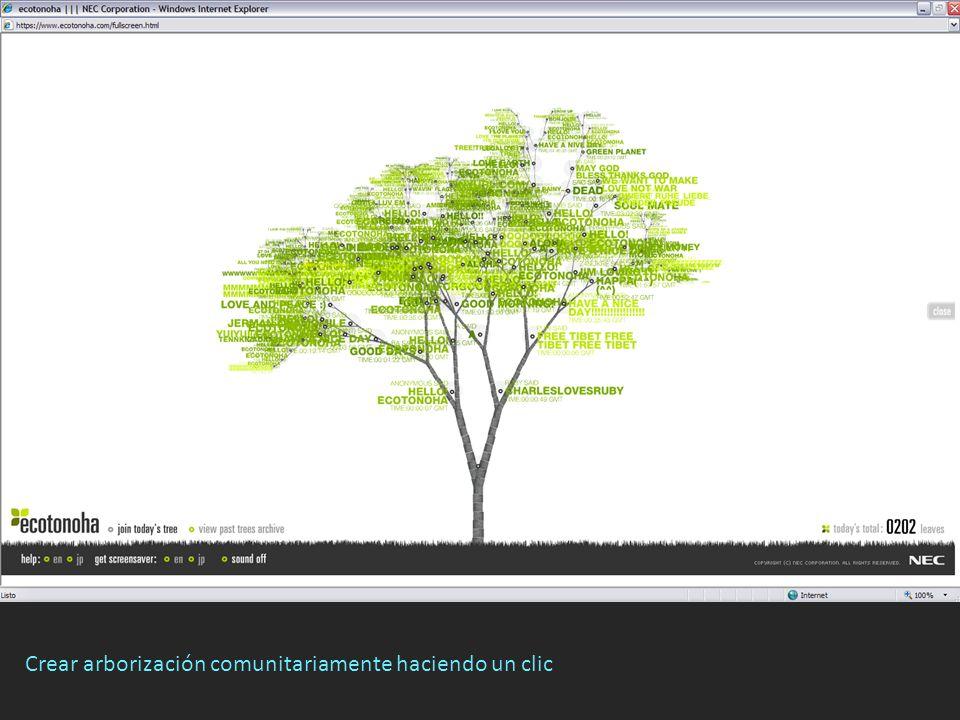 Crear arborización comunitariamente haciendo un clic